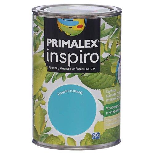 Краска PRIMALEX Inspiro моющаяся матовая бирюзовый 1 л