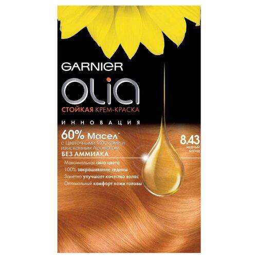 Olia cтойкая крем-краска для волос, 160 мл, 8.43, Медный блондКраска<br>