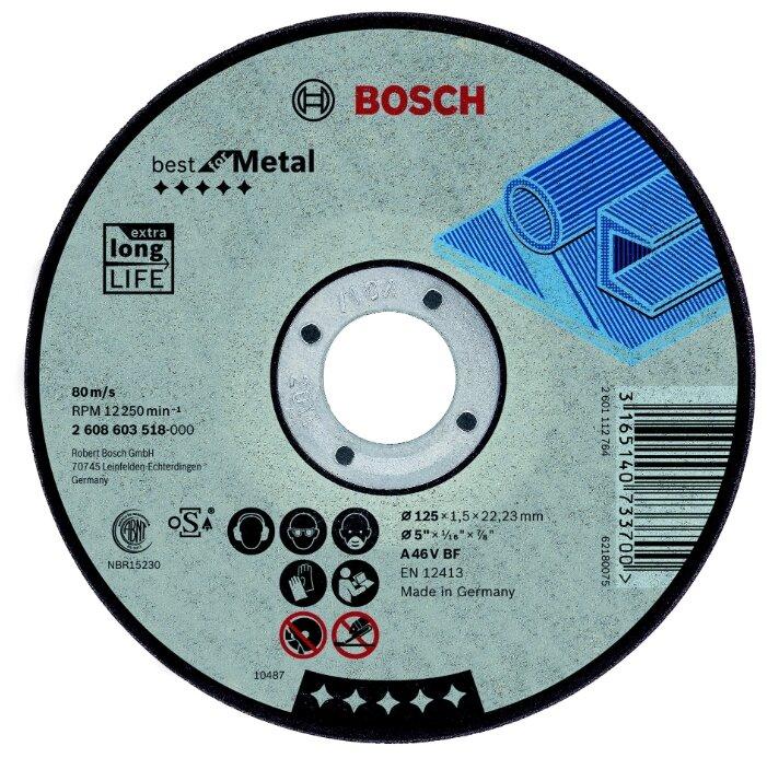 Отрезной круг по металлу BOSCH Professional 125х1,5х22.2 мм A46V-BF Best for Metal