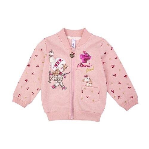 Толстовка playToday размер 68, светло-розовый playtoday толстовка playtoday для мальчика