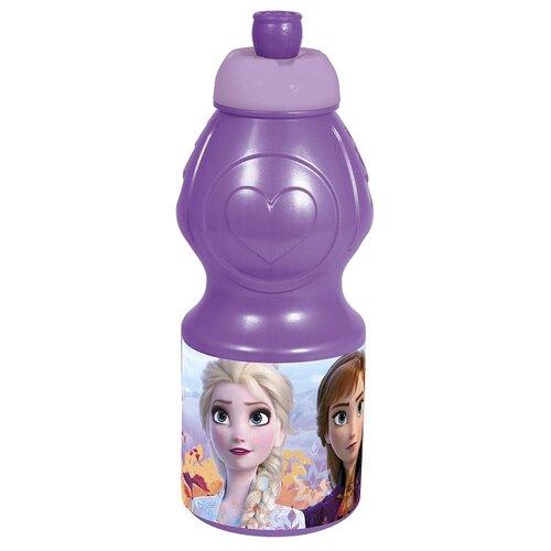 Бутылка для воды, для безалкогольных напитков Stor спортивная фигурная 0.4 пластик холодное сердце 2