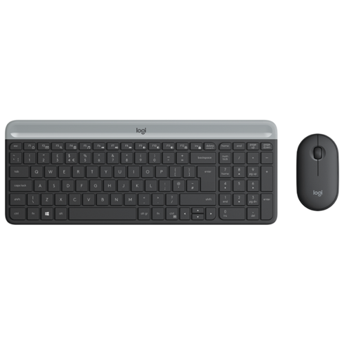 Клавиатура и мышь Logitech MK470 Slim Wireless Desktop клавиатура мышь logitech wireless desktop mk 220 920 003169