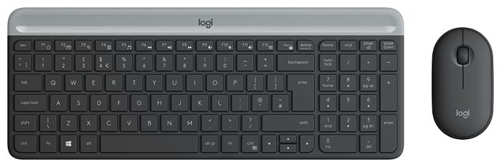 Клавиатура и мышь Logitech MK470 Slim Wireless Desktop