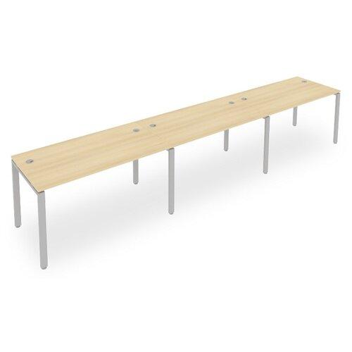 Стол офисный Рива Metal System Style Б.СМ-3.3 акация/серый