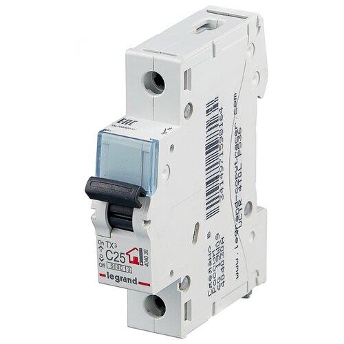 Автоматический выключатель Legrand TX3 1P (C) 6kA 25 А