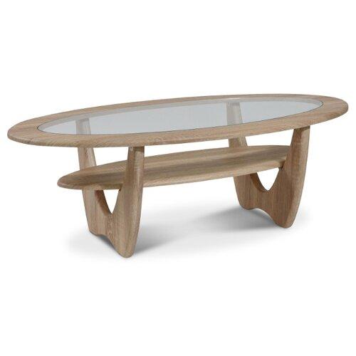 Столик журнальный Калифорния мебель Юпитер СЖС-01, ДхШ: 120 х 62 см, дуб сонома стол журнальный калифорния мебель юпитер со стеклом дуб сонома