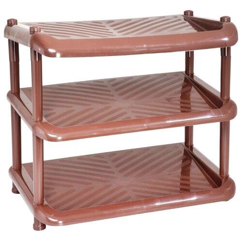 Обувница ПОЛИМЕРБЫТ Комфорт 3 , размер (ШхГ): 49.5х31 см , цвет: коричневый