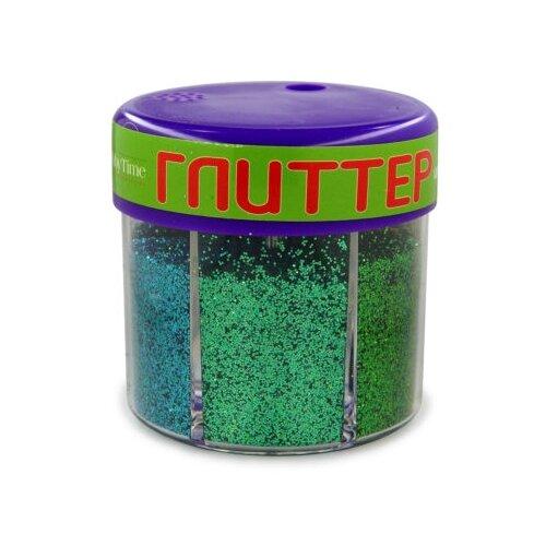 Купить Глиттер для декора с дозатором №4, 60 грамм, зеленый (6 цветов), Альт, Декоративные элементы и материалы