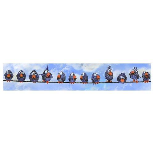 Вышиваем бисером Набор для вышивания бисером Воробьи 112 х 19 см (L-49) набор для вышивания иконы вышиваем бисером l 68 святой пантелеймон целитель