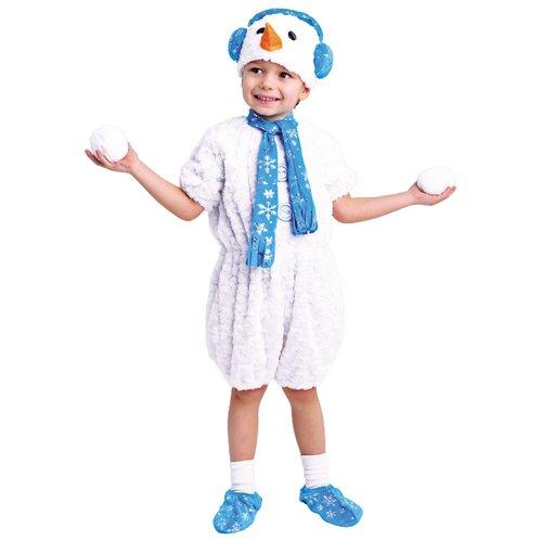 Купить Костюм Батик Снеговичок (917 к-17), белый/голубой, размер 104-52, Карнавальные костюмы
