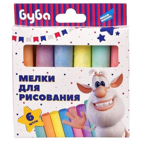 Купить Dream Makers Мелки для рисования цветные Буба 6 шт, Пастель и мелки