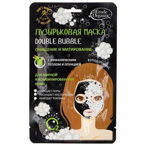 Фото - Etude Organix Пузырьковая маска Double Bubble с вулканическим пеплом, 25 г etude organix маска слайсы восстанавливающая гранат 25 г