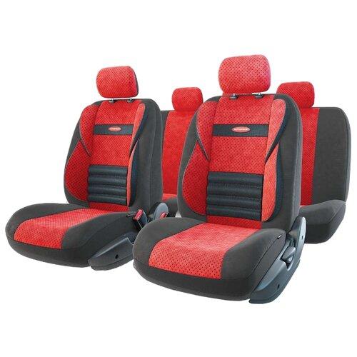 цена на Комплект чехлов AUTOPROFI CMB-1105 красный/черный