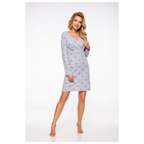 Фото - Taro Хлопковая женская сорочка Linda с длинным рукавом, серый, L сорочка taro размер l серый