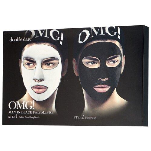 Double Dare OMG! Man in Black Двухкомпонентный комплекс мужских масок «Детокс» 5 шт 340 г