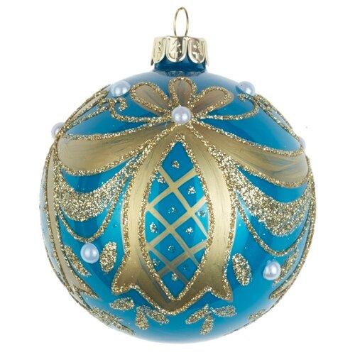 Набор шаров KARLSBACH 08009, голубой/золотистый