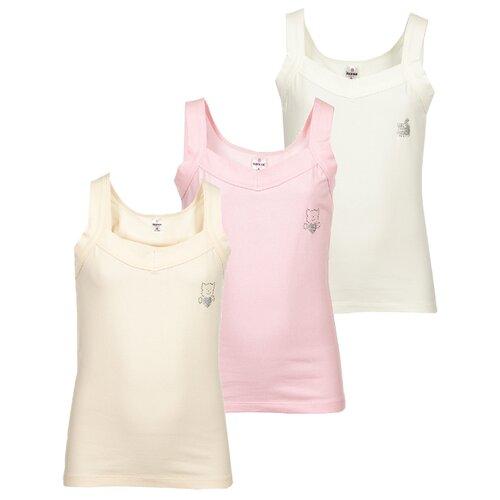 Купить Майка BAYKAR 3 шт., размер 158/164, молочный/персиковый/розовый, Белье и купальники