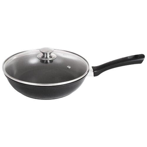 Сковорода Kukmara Традиция с269а 26 см с крышкой, черный сковорода d 24 см kukmara кофейный мрамор смки240а