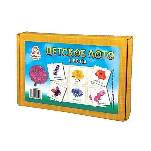 Настольная игра Азбука тойс Детское лото Цветы