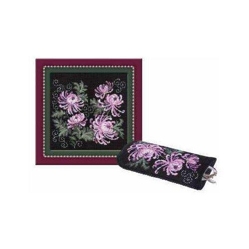 Риолис Набор для вышивания 966 «Панно/очечник с хризантемами