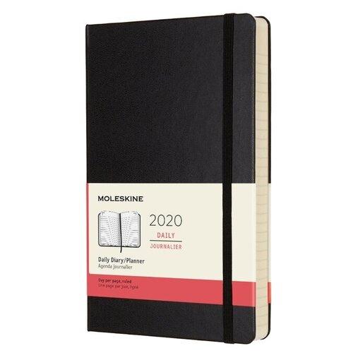 Ежедневник Moleskine Classic датированный на 2020 год, 200 листов, черный ежедневник датированный на 2020 год leaves 176 листов 14 х 20 см