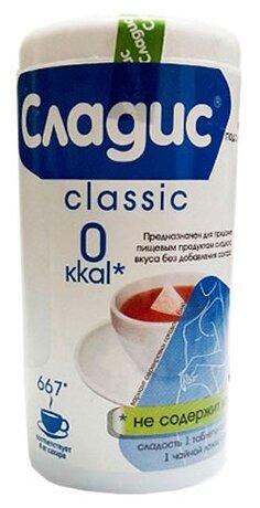 Сладис подсластитель Classic (круглый дозатор) таблетки
