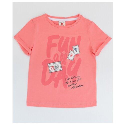 Купить Футболка Button Blue размер 158, розовый, Футболки и майки