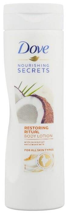 Лосьон для тела Dove Nourishing Secret восстанавливающий с кокосовым маслом и миндальным молочком