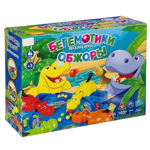 Настольная игра Zhorya Бегемотики обжоры голодные бегемотики настольная игра 98936