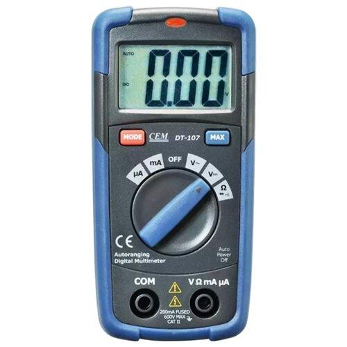 Мультиметр CEM DT-107 мультиметр карманный cem dt 101