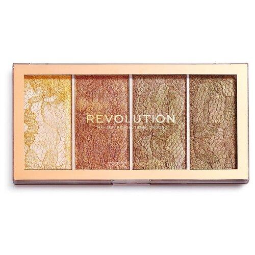 REVOLUTION Палетка хайлайтеров Vintage Lace Highlighter Palette недорого