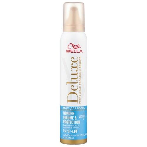 Wella Deluxe мусс для волос Wonder Volume & Protection, 200 мл