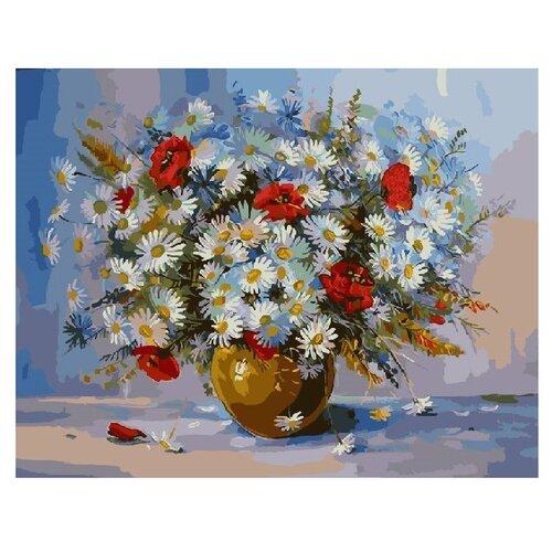 Купить ВанГогВоМне Картина по номерам Полевые ромашки и маки , 40х50 см (ZX 22276), Картины по номерам и контурам