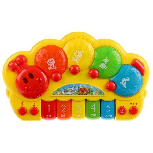 Купить Умка пианино B1200706-R (24) желтый/красный, Детские музыкальные инструменты