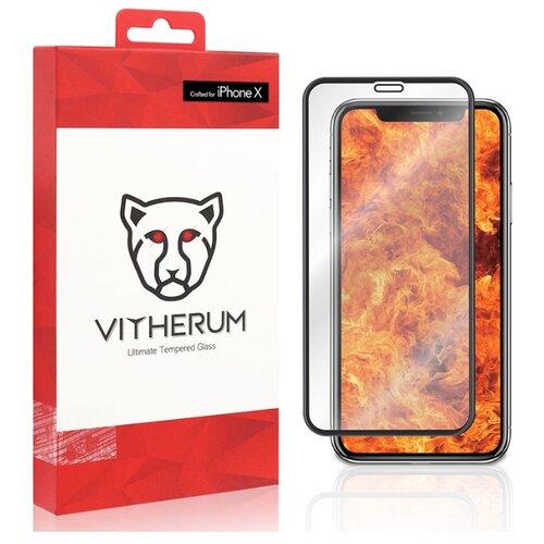 Защитное стекло Vitherum RUBY Ultimate Resistance Tempered Glass для iPhone X/XS черный