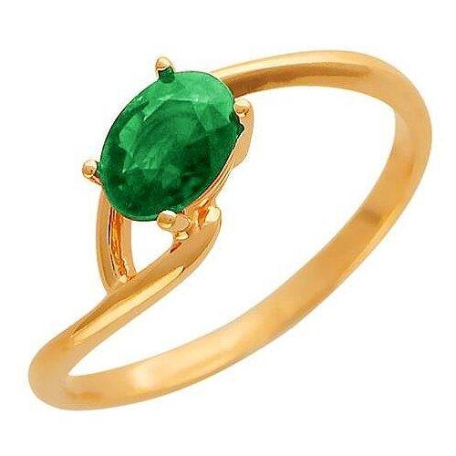 Эстет Кольцо с 1 изумрудом из красного золота 01К513625-1, размер 16.5 ЭСТЕТ