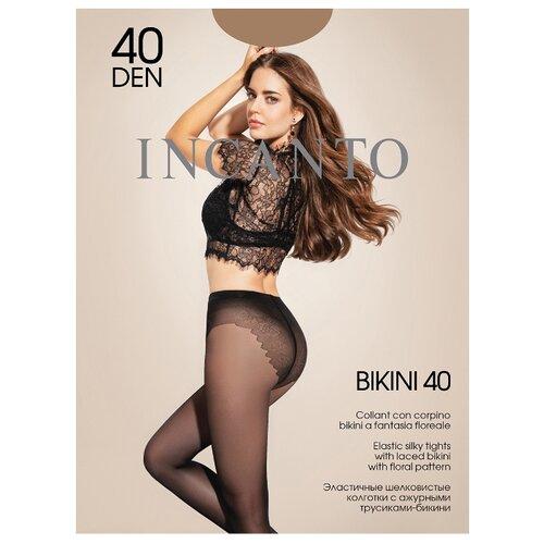 Колготки Incanto Bikini 40 den, размер 4, daino (бежевый) колготки incanto elle 40 den размер 4 daino бежевый