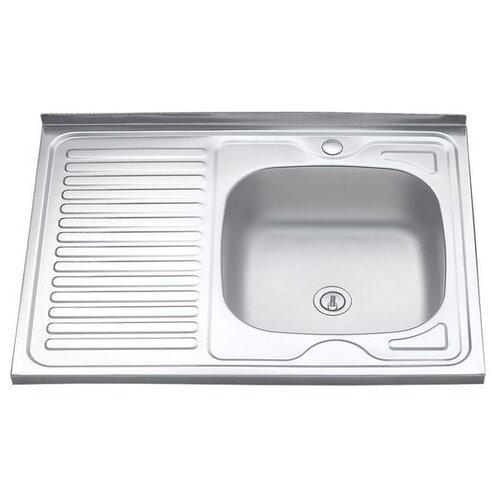 Мойка нержавеющая сталь 800 х600 накладная правая 0,4/160мм MLN-8060 R кухонная мойка melana 015 t r 10