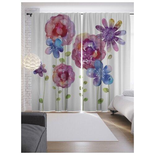 Портьеры JoyArty Цветы могут присниться на ленте 265 см (p-16274)
