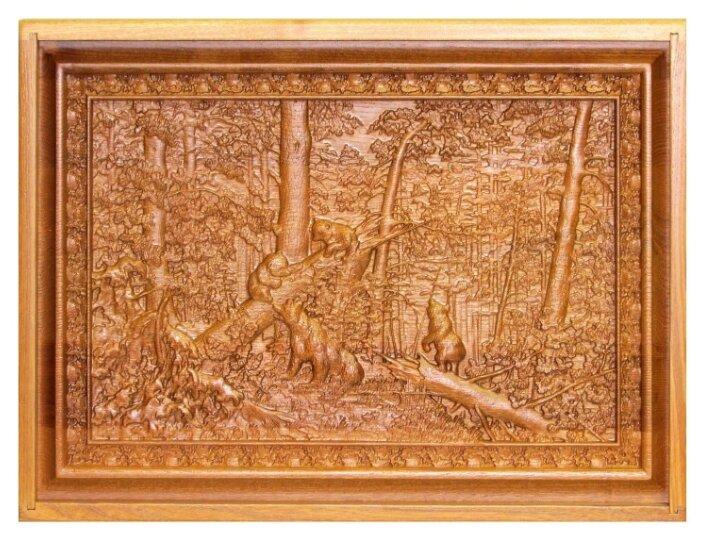 Набор игр Rovertime в резной шкатулке Утро в сосновом лесу, мореный ясень