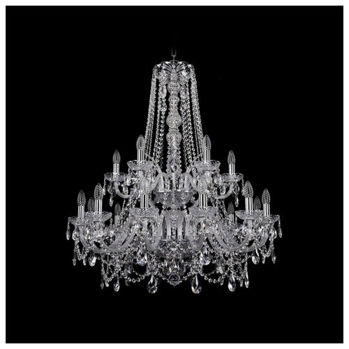 Фото - Люстра Bohemia Ivele Crystal 1411 1411/12+6/300/XL-99/2d/Ni, E14, 720 Вт люстра bohemia ivele crystal 1411 1411 12 6 300 h 94 g e14 720 вт