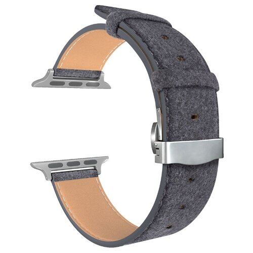 Lyambda Кожаный ремешок Minkar для Apple Watch 38/40 mm (DSP-10) grey ремешок для часов lyambda для apple watch 42 44 mm minkar dsp 10 44 black