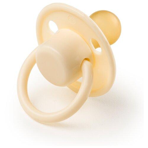 Купить Пустышка латексная классическая Happy Baby 13024 6-12 м (1 шт.) yellow, Пустышки и аксессуары