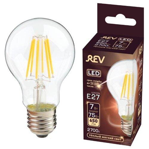 Фото - Лампа светодиодная REV 32422 5, E27, A60, 5Вт лампа светодиодная led e27 8 5вт 220v 2700к rev