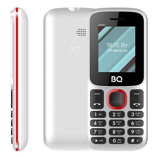 Телефон BQ 1848 Step+, белый / красный сотовый телефон bq 1848 step black