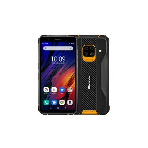 Смартфон Blackview BV5100 Pro, черный/оранжевый смартфон blackview bv4900 черный оранжевый
