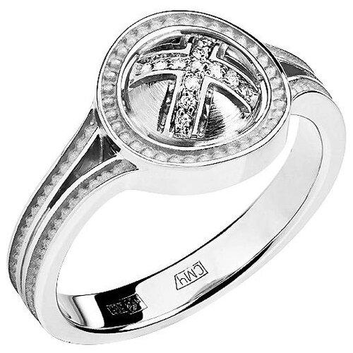 Эстет Кольцо с 13 бриллиантами из белого золота 01К628743, размер 17.5 фото