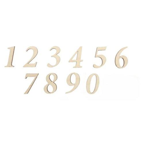 Купить Astra & Craft Деревянная заготовка для декорирования Набор цифр №1, Арабский (0-9) L-142 (10 шт.) береза, Декоративные элементы и материалы