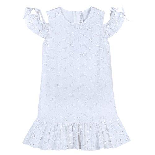 Купить Платье COCCODRILLO размер 104, белый, Платья и сарафаны