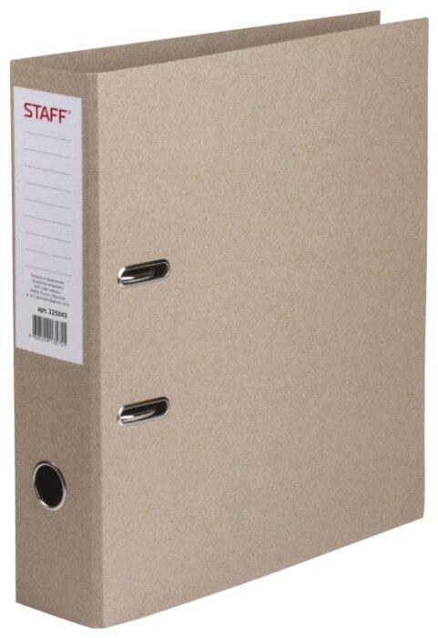 STAFF Папка-регистратор без покрытия и уголка, А4, 75 мм — купить по выгодной цене на Яндекс.Маркете